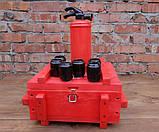 При пожежі налити по 100 - красный огнетушитель-бутылка в деревянном ящике, фото 6