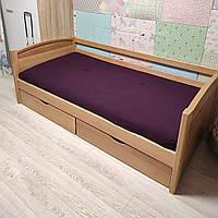 """Односпальная кровать """"Тахта"""" - Доминика в лаке, массив ольхи"""