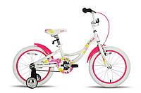 Велосипед 18'' PRIDE AMELIA бело-розовый глянцевый 2016