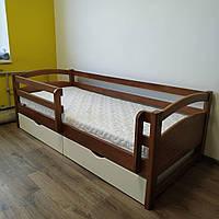 """Односпальная кровать """"Тахта"""" - Милана в тонировке, массив ольхи"""