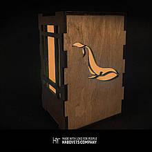 Дерев'яний світильник нічник «Whale», деревянный светильник ночник «Whale»
