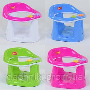"""Детское сиденье для купания на присосках BM-01611 DARK PINK """"BIMBO"""" цвет РОЗОВЫЙ, в коробке, фото 2"""