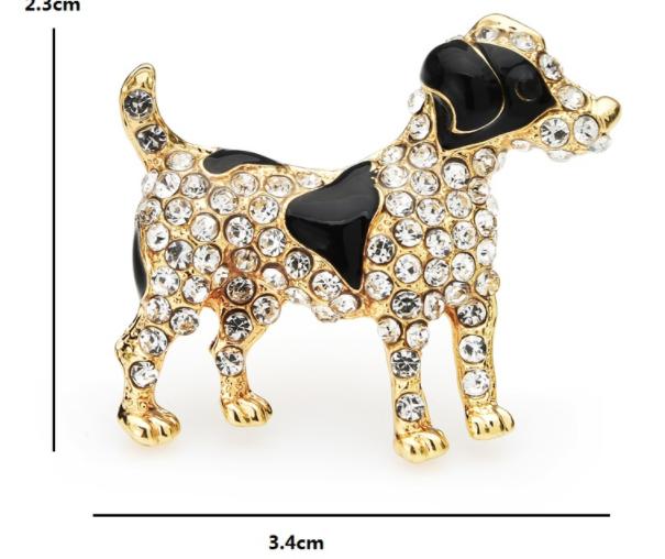 Брошка брошка значок джек рассел тер'єр, пес собака метал емаль значок пін