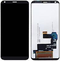 Дисплей для LG Q6 Dual Sim M700A, M700N, модуль в зборі (екран і сенсор), чорний, оригінал