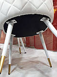 Мягкий стул M-99 белый кожзам Vetro Mebel (бесплатная доставка), фото 3