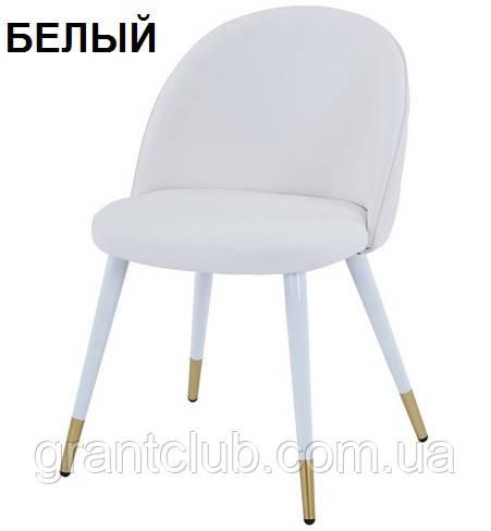 Мягкий стул M-99 белый кожзам Vetro Mebel (бесплатная доставка)
