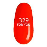 Гель-лак For You № 329 ( Кислотно Оранжевый Неон, эмаль ), 8 мл