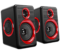 Колонки для компьютера FT-165 черные с красным портативная акустическая система ноутбука