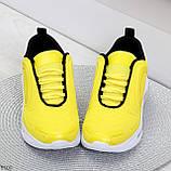 Яркие модные желтые неоновые текстильные тканевые женские кроссовки, фото 8