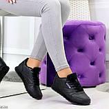Удобные молодежные черные женские кроссовки на каждый день, фото 2