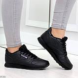 Удобные молодежные черные женские кроссовки на каждый день, фото 3