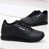 Удобные молодежные черные женские кроссовки на каждый день, фото 4