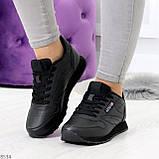 Удобные молодежные черные женские кроссовки на каждый день, фото 5