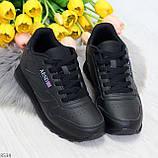 Удобные молодежные черные женские кроссовки на каждый день, фото 6
