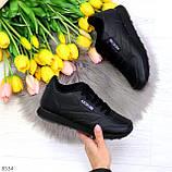 Удобные молодежные черные женские кроссовки на каждый день, фото 9