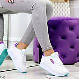 Молодежные белые женские миксовые кроссовки мультиколор на утолщенной подошве, фото 5