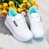 Молодежные белые женские миксовые кроссовки мультиколор на утолщенной подошве, фото 7