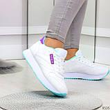 Молодежные белые женские миксовые кроссовки мультиколор на утолщенной подошве, фото 9