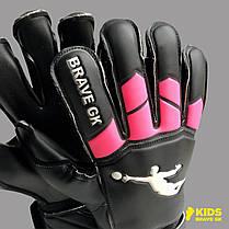 Перчатки вратарские BRAVE GK WINNER BLACK/PINK, фото 2