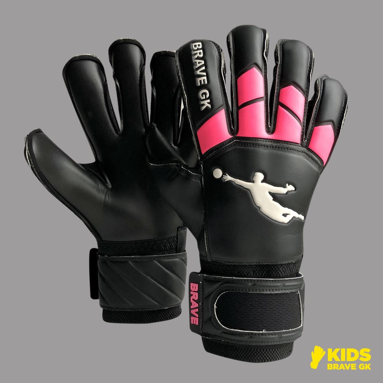 Перчатки вратарские BRAVE GK WINNER BLACK/PINK P.6