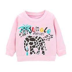 Свитшот для девочки утепленный Jungle elephant Little Maven (92) 98