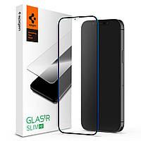 Защитное стекло Spigen для iPhone 12 Mini (1шт) GLAS.tR Slim Full Cover, Black (AGL01534)