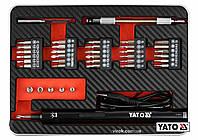 """Викрутка акумуляторна з набором біт YATO Li-Ion 3.6В 450 мАгод LED-підсвітка HEX-1/4"""" 39 шт + кейс YT-27930"""
