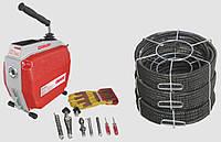 Машина для прочистки канализационных труб Rotor King сет 16+22 для труб диаметром 25-150 мм, фото 1