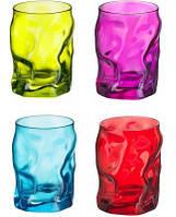 Набор из 4-х стаканов 300 мл Sorgente Azz-Ver-Vio-Ros Bormioli 340420J16021480