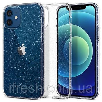 Чехол Spigen для iPhone 12 / iPhone 12 Pro Liquid Crystal Glitter, Crystal Quartz (ACS01698)