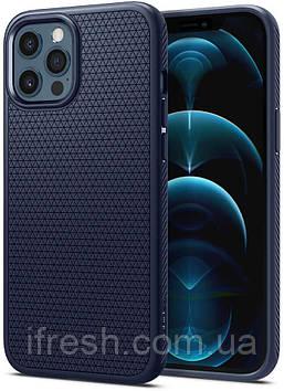 Чехол Spigen для iPhone 12 / iPhone 12 Pro - Liquid Air, Navy Blue (ACS02250)