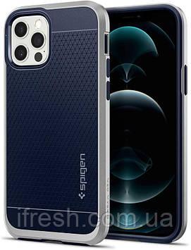 Чехол Spigen для iPhone 12 / iPhone 12 Pro -  Neo Hybrid, Satin Silver (ACS02254)