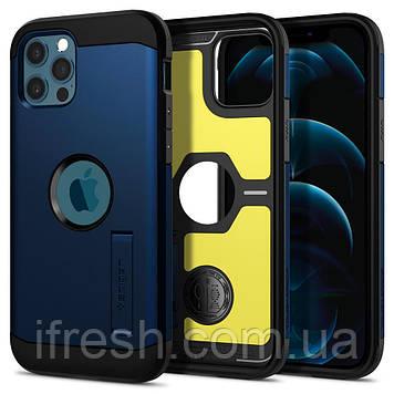"""Чехол Spigen для iPhone 12 / iPhone 12 Pro (6.1"""") - Tough Armor, Navy Blue (ACS02298)"""