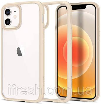 "Чехол Spigen для iPhone 12 /  iPhone 12 Pro (6.1"") - Ultra Hybrid, Sand Beige (ACS02177)"