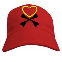 Молодёжная бейсболка с рисунком  Пиратское сердце