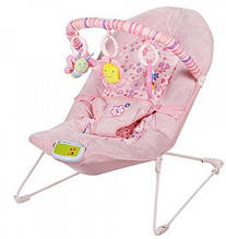Шезлонги  детские дуга,вибро розовый арт 30602.