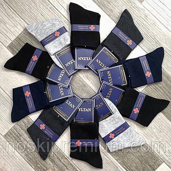 Шкарпетки чоловічі демісезонні без гумки медичні бавовна Syltan, 41-46 розмір, асорті, 9861