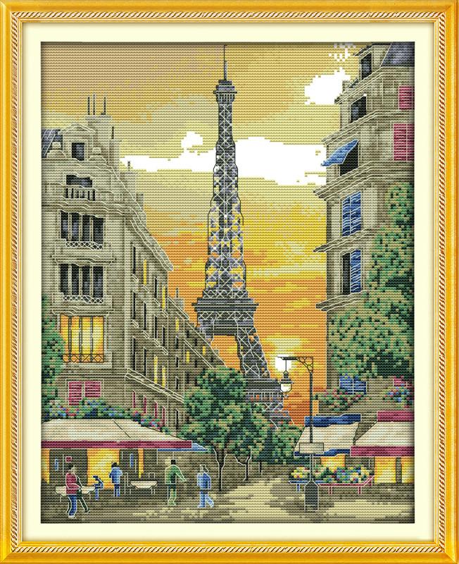 Набор для вышивания крестом NKF Закат в Париже 14ст F590