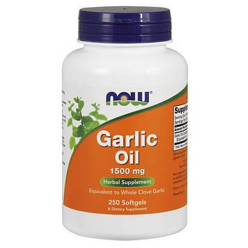 Чесночное масло Now Foods Garlic Oil 1500 mg (250 softgels)