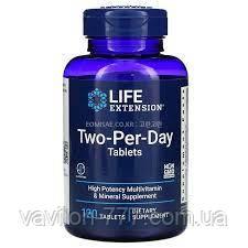 Life Extension, таблетки для приема дважды в день, 120 таблеток