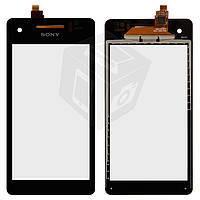 Сенсорный экран (touchscreen) для Sony Xperia V LT25i, черный, оригинал