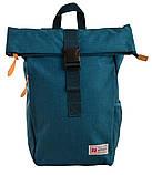 Рюкзак міський Smart Roll-top T-70 Tube Turquoise 14 л Бірюзовий, фото 2
