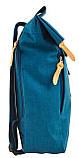 Рюкзак міський Smart Roll-top T-70 Tube Turquoise 14 л Бірюзовий, фото 4