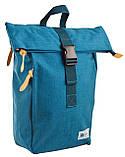 Рюкзак міський Smart Roll-top T-70 Tube Turquoise 14 л Бірюзовий, фото 5