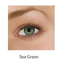 Зелёные цветные контактные линзы FreshLook Dimensions Sea Green