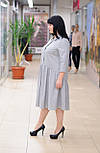 Стильное  серое шерстяное платье с оборкой Мирелла, фото 4