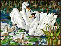 """Алмазная живопись """"Лебеди"""", мозаика по номерам размер 30*40см Китай"""