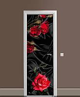 Наклейка на дверь Zatarga «Роза Tassin 02 » 650х2000 мм виниловая 3Д наклейка декор самоклеящаяся