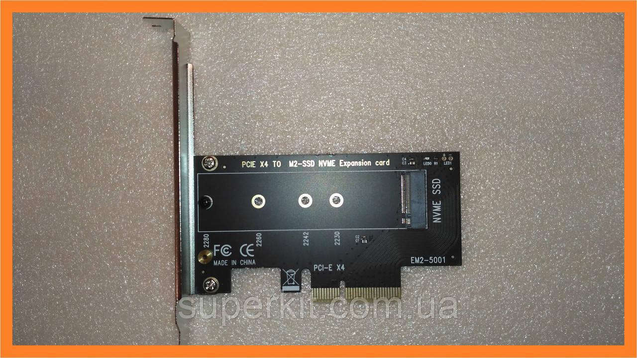 PCI-E -> M.2 ( NVMe ) SSD ключ M X4 переходник адаптер + низкопрофильная планка