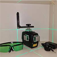 ОТКАЛИБРОВАН ЗЕЛЁНЫЙ ЛУЧ 50м Лазерный ударопрочный уровень DEKO 3D green
